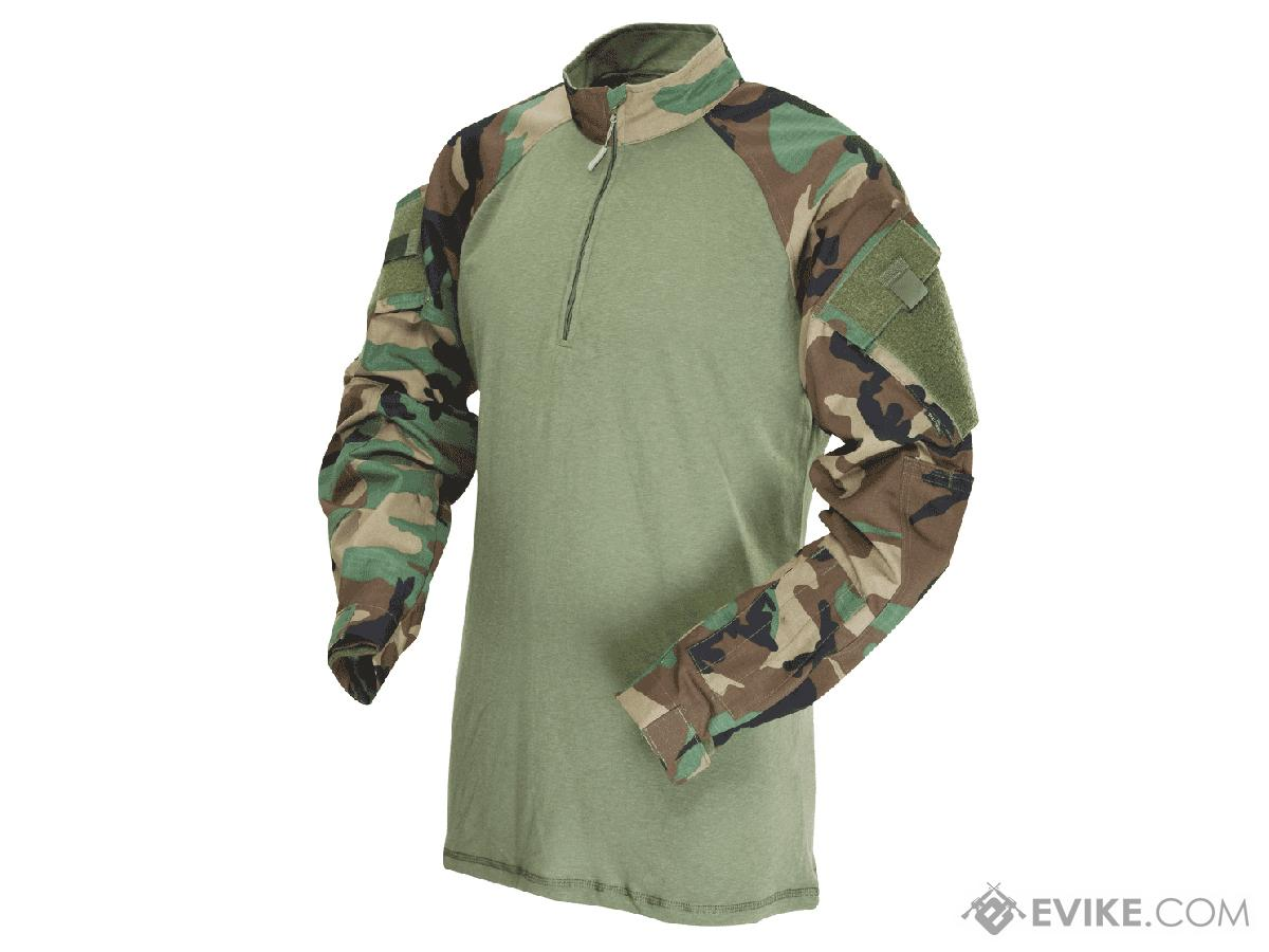 Tru-Spec Tactical Response Uniform 1/4 Zip Combat Shirt - Woodland  (Size: Medium)