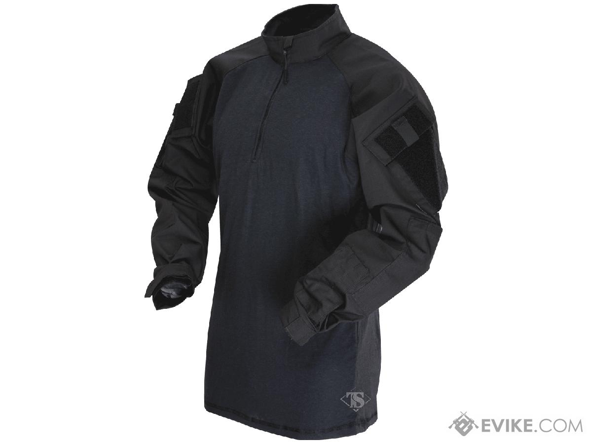 Tru-Spec Tactical Response Uniform 1/4 Zip Combat Shirt - Black (Size: X-Large)
