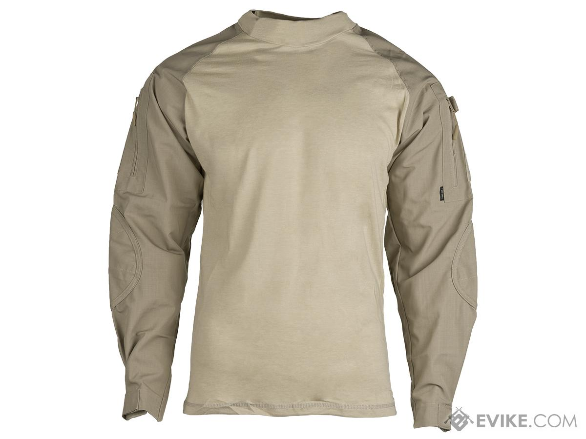 Tru-Spec Tactical Response Uniform  Combat Shirt - Khaki (Size: Medium)