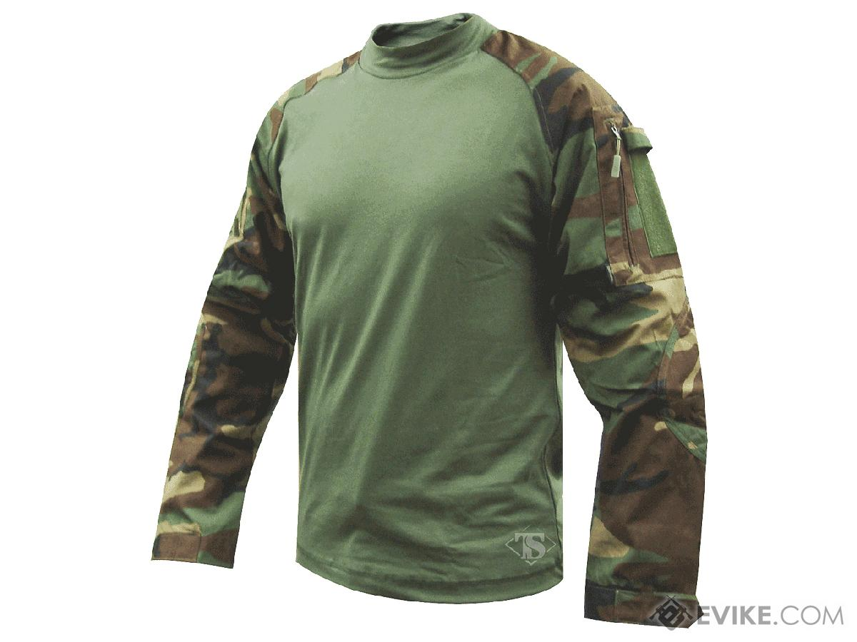Tru-Spec Tactical Response Uniform  Combat Shirt - Woodland (Size: Large)