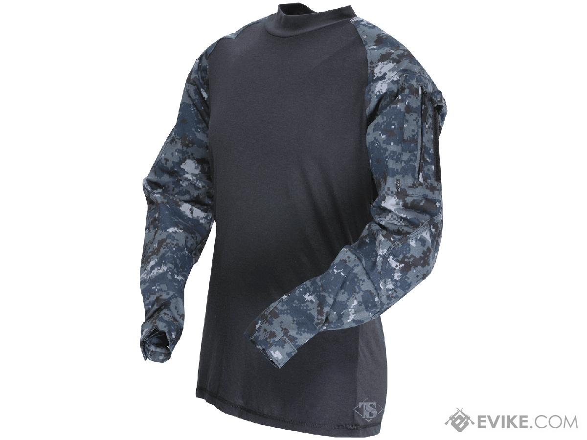 Tru-Spec Tactical Response Uniform  Combat Shirt - Midnight Digital (Size: Large)