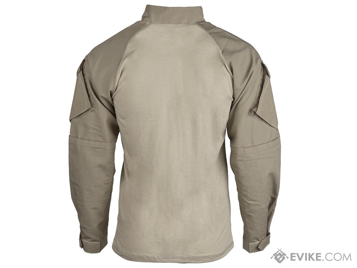 Tru-Spec Tactical Response Uniform 1/4 Zip Combat Shirt - Khaki (Size: Small)