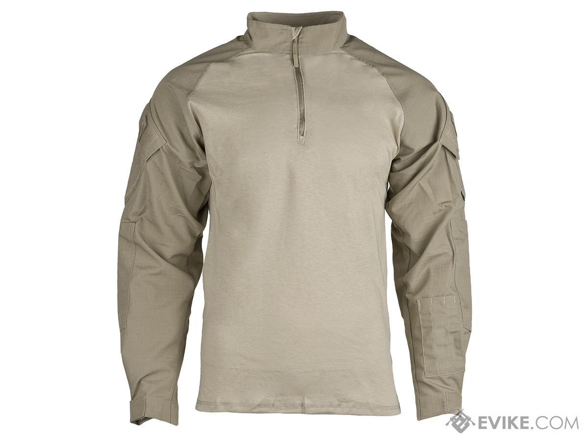 Tru-Spec Tactical Response Uniform 1/4 Zip Combat Shirt - Khaki (Size: Large)