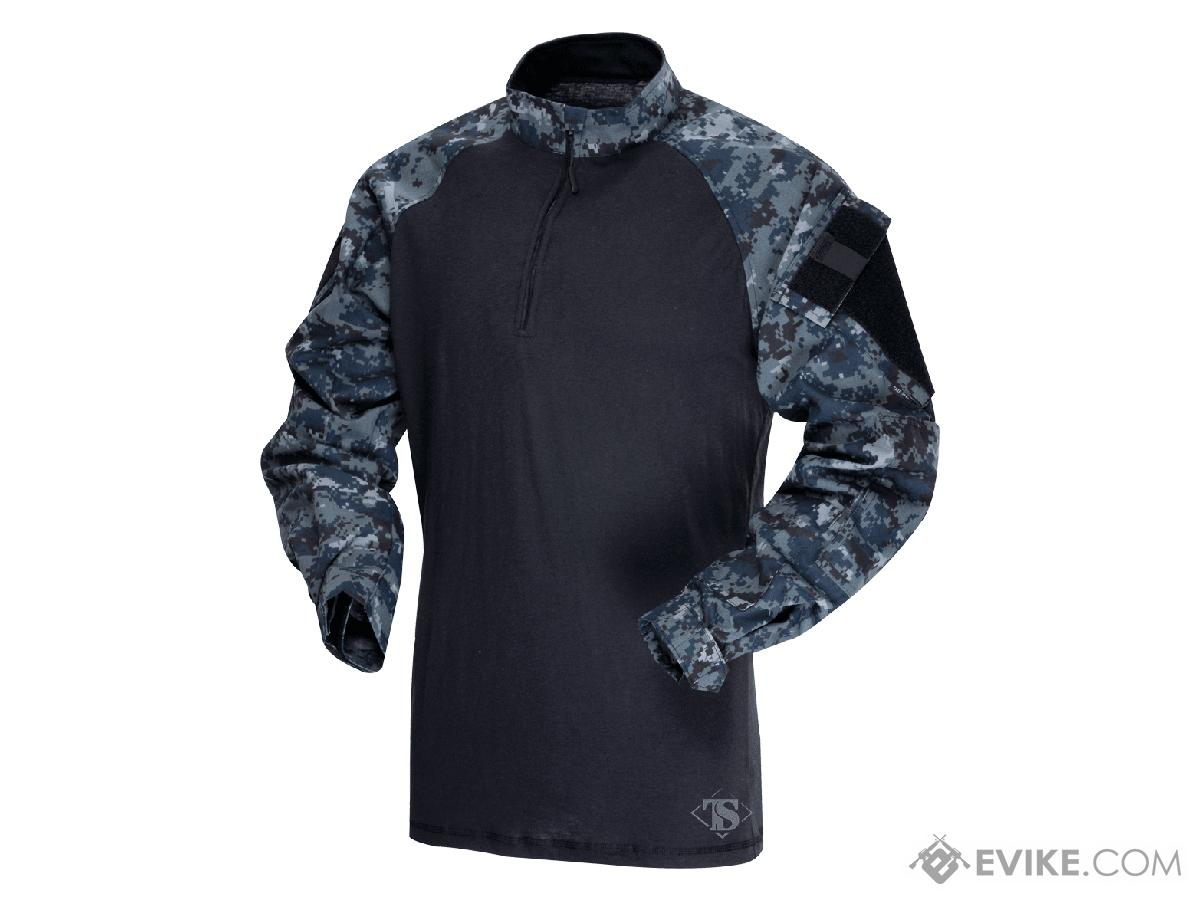 Tru-Spec Tactical Response Uniform 1/4 Zip Combat Shirt - Midnight Digital (Size: Small)
