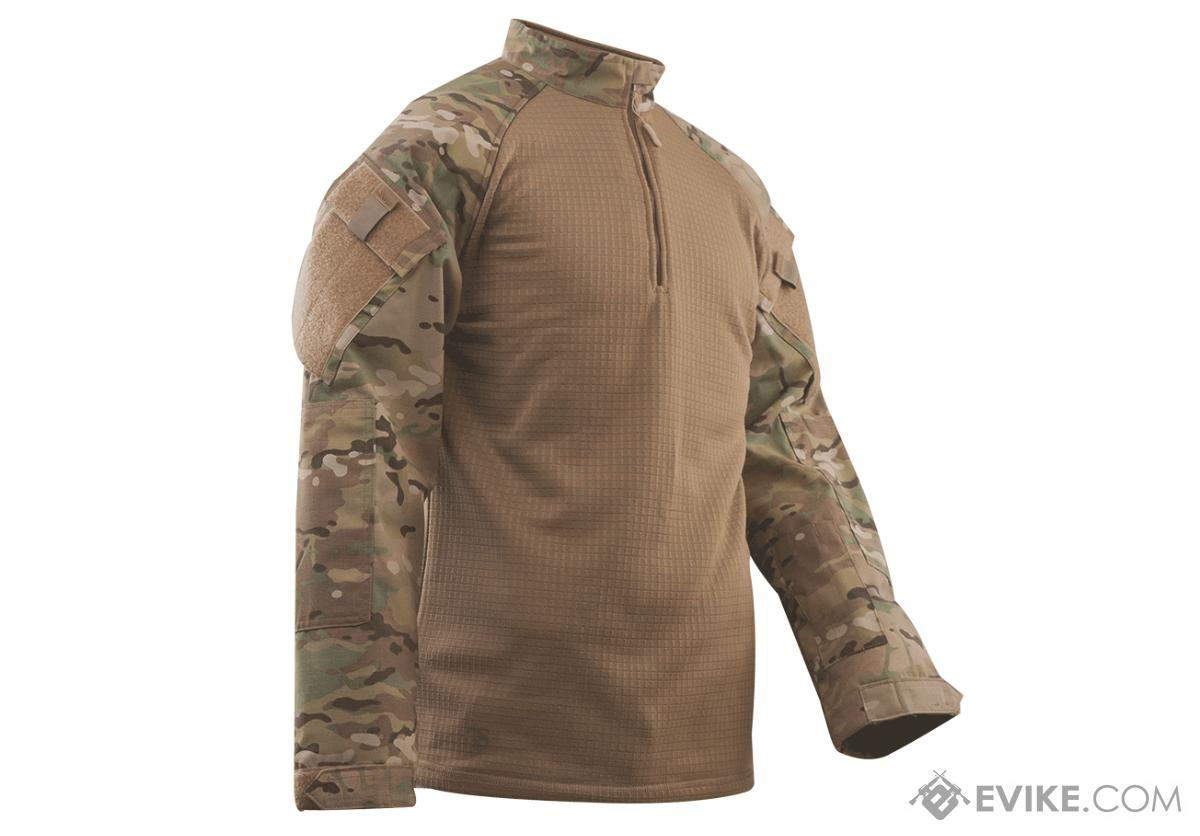 Tru-Spec Tactical Response Uniform Cold Weather  1/4 Zip Combat Shirt - Multicam (Size: Large)