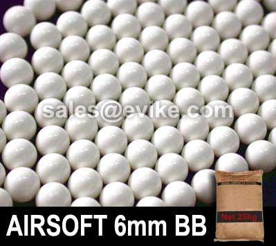 Matrix 0.25g Match Grade 6mm Airsoft BB Rice Bag Bulk Buy - 25KG/ White