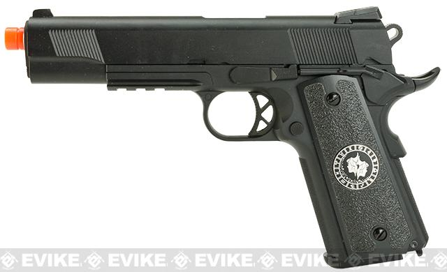 Evike.com Nostradamus Custom 1911 Gas Blowback Airsoft Pistol with Angel Custom Tac-Glove Grips (Sign: Gemini)