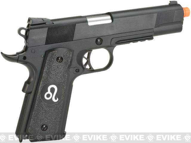 Evike.com Nostradamus Custom 1911 Gas Blowback Airsoft Pistol with Angel Custom Tac-Glove Grips (Sign: Leo)