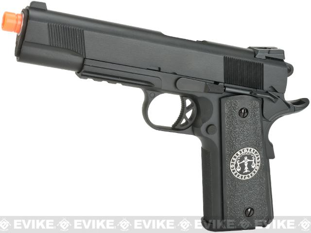 Evike.com Nostradamus Custom 1911 Gas Blowback Airsoft Pistol with Angel Custom Tac-Glove Grips (Sign: Libra)