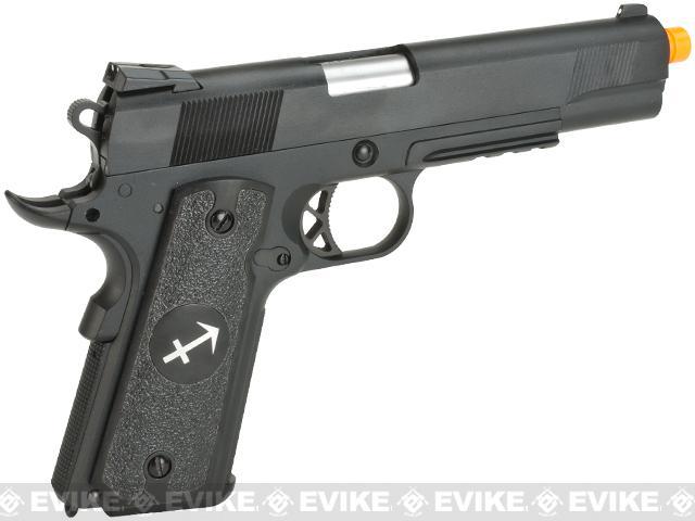 Evike.com Nostradamus Custom 1911 Gas Blowback Airsoft Pistol with Angel Custom Tac-Glove Grips (Sign: Sagittarius)
