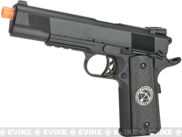 Evike.com Nostradamus Custom 1911 Gas Blowback Airsoft Pistol with Angel Custom Tac-Glove Grips (Sign: Sagittarius)