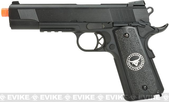 Evike.com Nostradamus Custom 1911 Gas Blowback Airsoft Pistol with Angel Custom Tac-Glove Grips (Sign: Taurus)