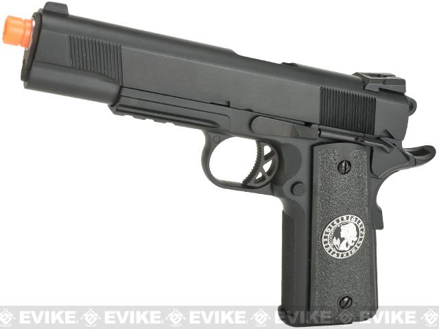 Evike.com Nostradamus Custom 1911 Gas Blowback Airsoft Pistol with Angel Custom Tac-Glove Grips (Sign: Virgo)