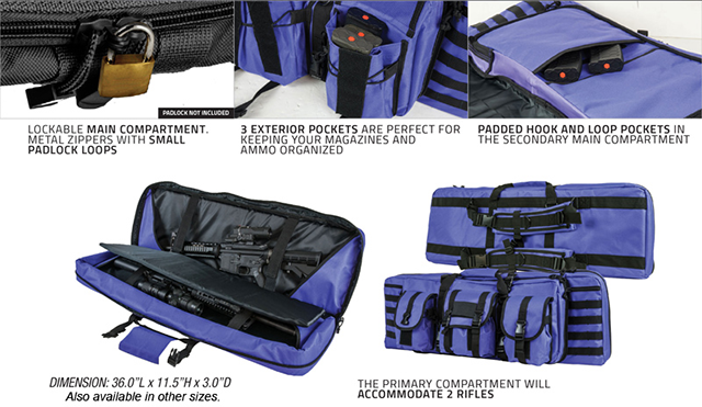 Combat Featured 36 Ultimate Dual Weapon Case Rifle Bag (Black)