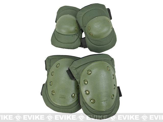 Avengers Special Operation Tactical Knee Pad / Elbow Pad Set - OD Green