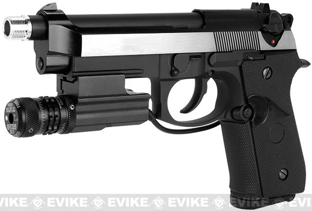 WE M9A1 S.O.C. Special Edition Gas Blowback Pistol - Two Tone Stainless Chrome