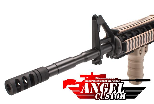 Angel Custom 14mm- CNC GILLS Navy Seal Type Airsoft Flashhider (14mm-)