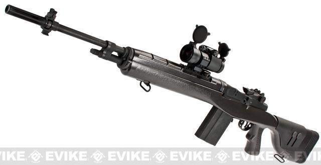 G&P M14 DMR Custom Airsoft AEG Sniper Rifle w/ Red Dot Scope - Gun Metal (Package: Add Battery + Charger)