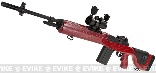 G&P M14 DMR Custom Airsoft AEG Sniper Rifle - Red (Package: Gun Only)