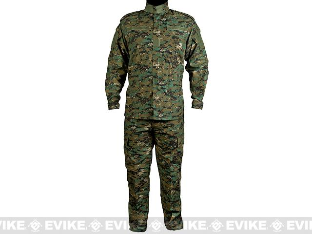 Matrix USMC Style Digital Woodland Marpat Battle Uniform Set - Large