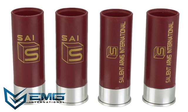 EMG/SAI CO2 Shotgun Shells for Salient Arms/APS CAM870 Shell Ejecting Airsoft Shotguns w/ Salient Arms Logo - Set of 4