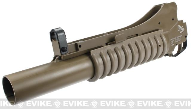 G&P Military Type M203 Grenade Launcher for M4 Series Airsoft Rifles - Long / Dark Earth