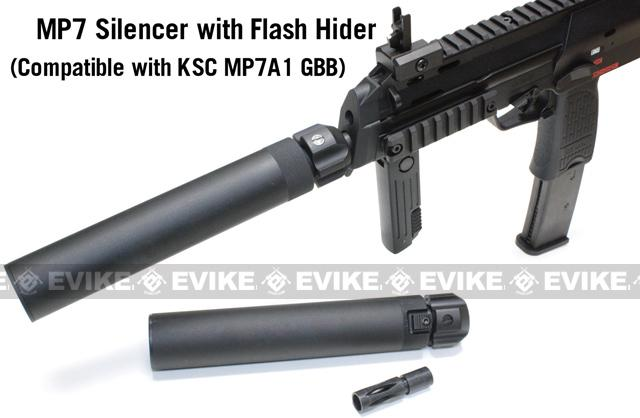 Angry Gun QD Power Up Mock Silencer for KWA KSC H&K Umarex MP7 Series Airsoft GBB with Tightbore Barrel
