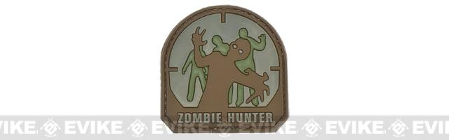 Zombie Hunter IFF PVC Rubber Hook and Loop Patch - 50mm / Arid