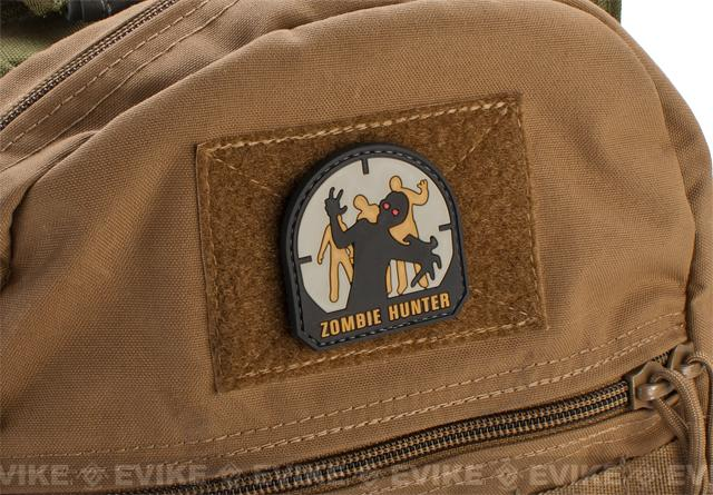 Zombie Hunter IFF PVC Rubber Hook and Loop Patch - 50mm / SWAT