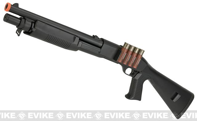 JG / AGM Full Size M3 Realistic Shell Loading Airsoft Shotgun (Full Stock)