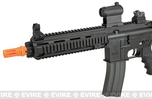 G&G Top Tech Full Metal Blowback TR4-18 SBR Airsoft AEG Rifle - Black (Package: Add 9.6 Butterfly Battery + Smart Charger)