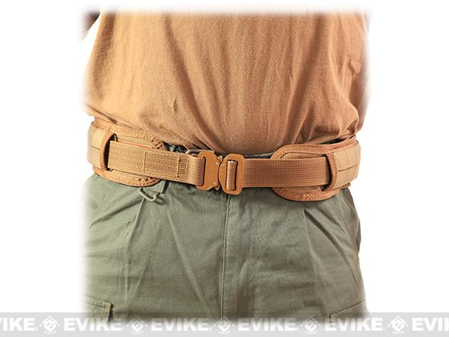 HSGI SlimGrip Padded Duty Belt - Coyote Brown (Size: 30.5)