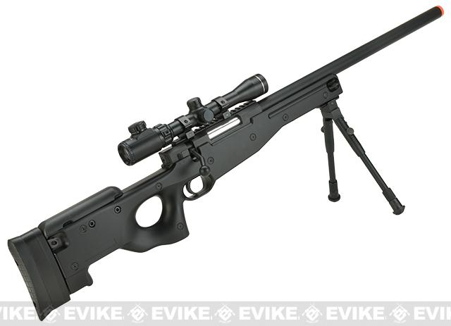 Shadow Op Master Sniper Type 96 Airsoft Sniper Rifle with Scope and Bipod By Double Eagle - Black