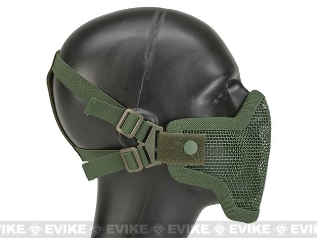 Matrix Iron Face Carbon Steel Mesh Striker V1 Lower Half Mask - OD Green