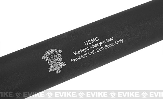 Matrix  14mm Light Weight Airsoft Mock Silencer / Barrel Extension - 30 X 230mm (USMC)