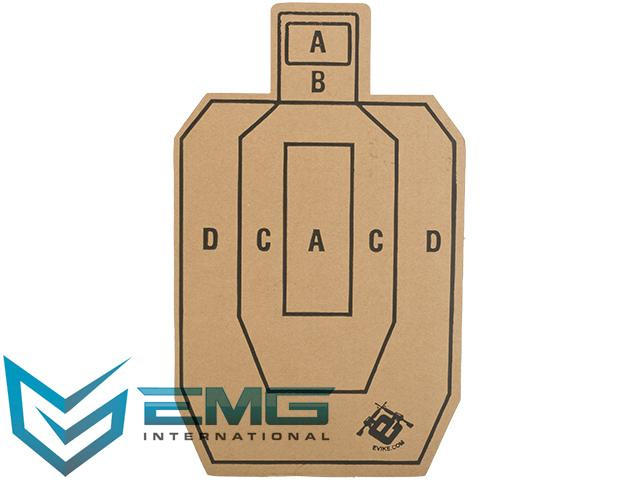 Professional Evike.com EMG Silhouette Tactical Training Targets with Scoring Rings - Set of 20