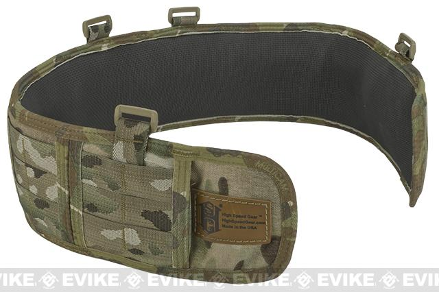 HSGI Slotted Sure-Grip Padded Duty Belt - Multicam (Size: Large 41.5)