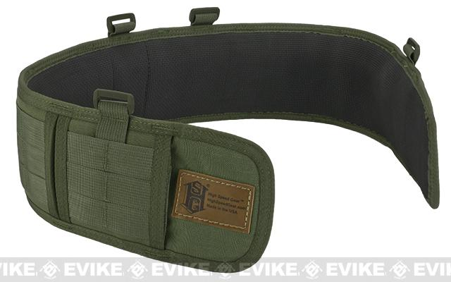 HSGI Slotted Sure-Grip Padded Duty Belt - OD Green (Size: Small 30.5)