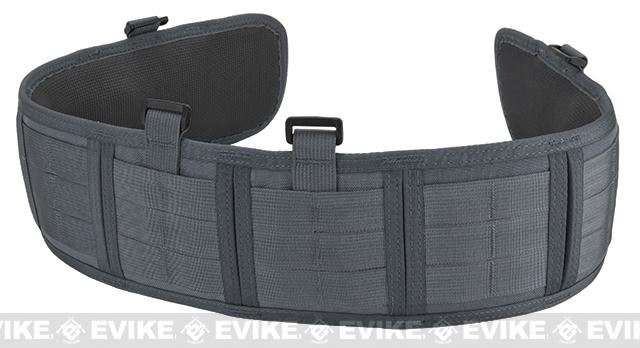 HSGI Slotted Sure-Grip Padded Duty Belt - Wolf Grey (Size: Large 41.5)