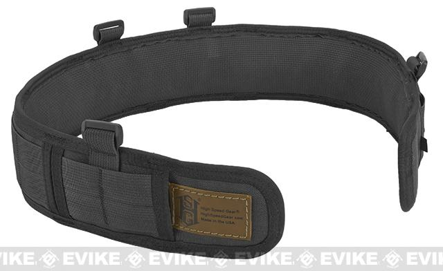 HSGI Slotted Slim-Grip Padded Duty Belt - Black (Size: Small)
