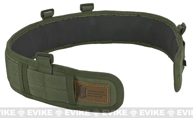 HSGI Slotted Slim-Grip Padded Duty Belt - OD Green (Size: Medium)