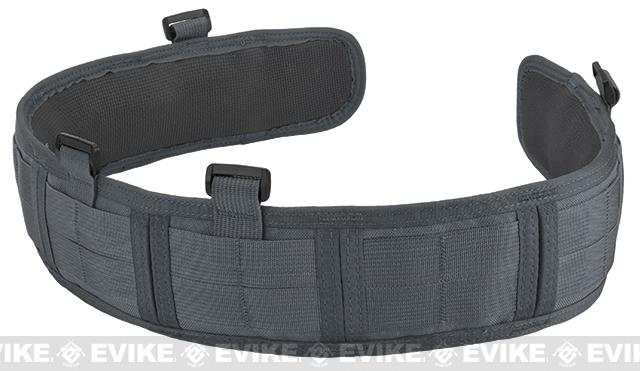 HSGI Slotted Slim-Grip Padded Duty Belt - Wolf Grey (Size: Large)