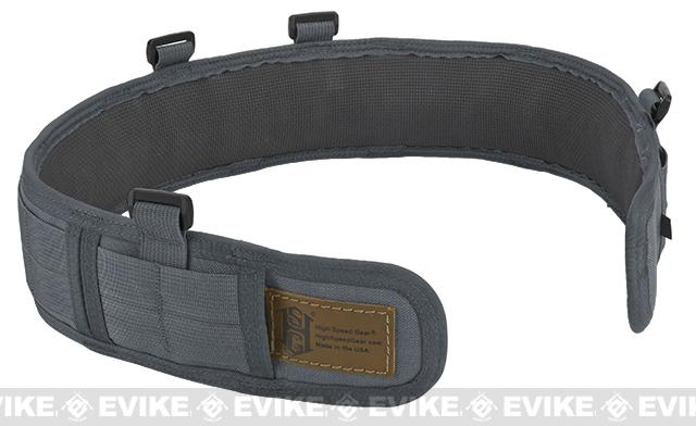 HSGI Slotted Slim-Grip Padded Duty Belt - Wolf Grey (Size: Medium)