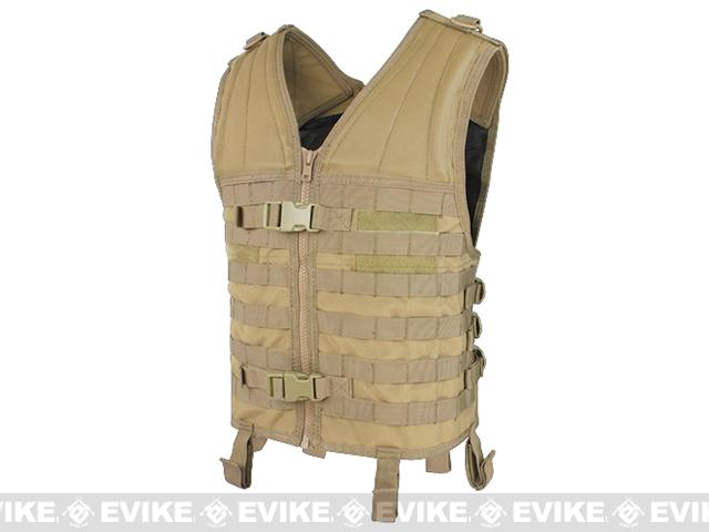 Condor Modular PALS / MOLLE Vest (Color: Tan / Vest Only)