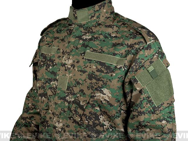 Matrix USMC Style Digital Woodland Battle Uniform Set (Size: X-Large)