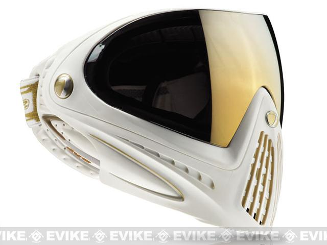 Dye i4 Pro Airsoft Full Face Mask - (White with Gold Thermal Lense)