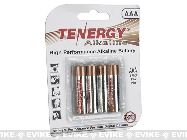Tenergy High Performance Alkaline AAA Batteries 4Pcs - Card
