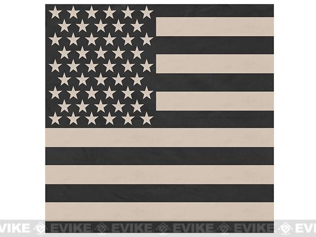 Rothco 100% Cotton Bandana - Stars & Stripes (Subdued Black / Khaki)
