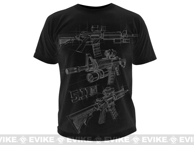 z 5.11 Tactical AR Sketch T-shirt - Black / X-Large