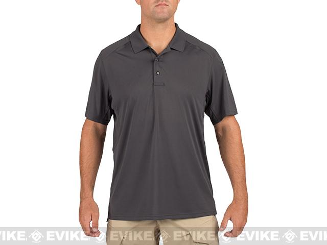 5.11 Tactical Helios Short Sleeve Polo - Charcoal (Size: Large)